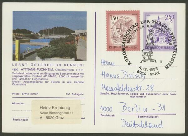 """schönes - Ganzsachen mit Wertstempel """"Schönes Österreich"""" P_455_10"""