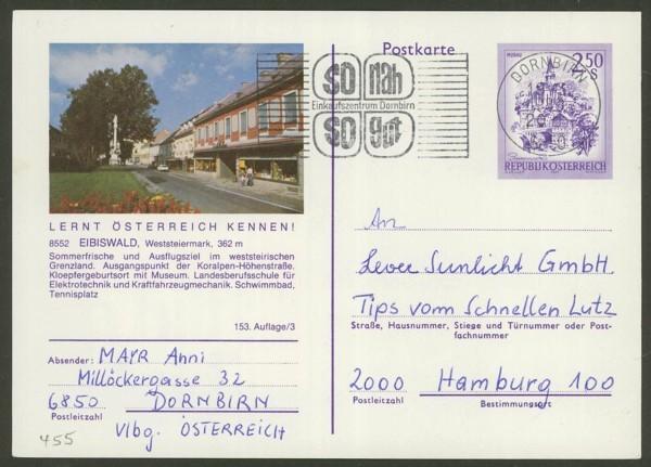 """schönes - Ganzsachen mit Wertstempel """"Schönes Österreich"""" P_455_18"""