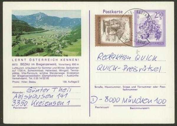 """Ganzsachen mit Wertstempel """"Schönes Österreich"""" - Seite 2 P_456_18"""