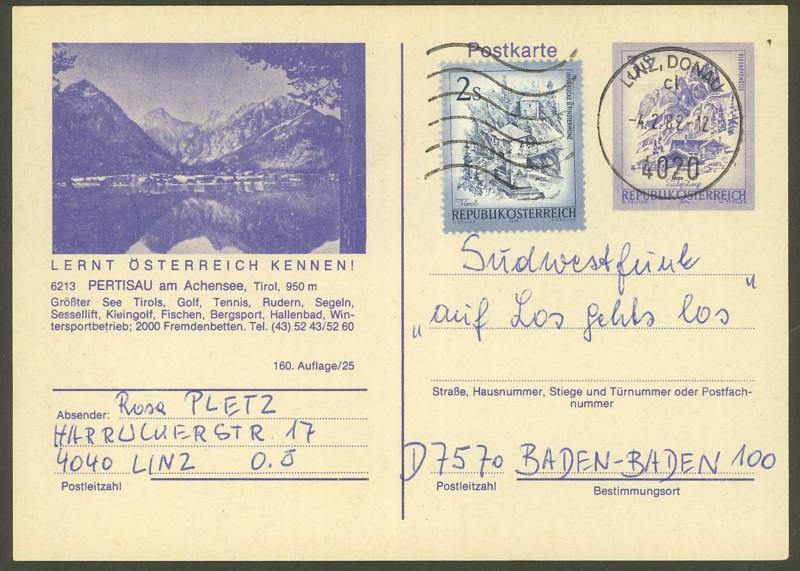 """Ganzsachen mit Wertstempel """"Schönes Österreich"""" - Seite 2 P_460_14"""