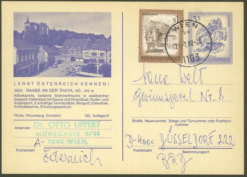 """Ganzsachen mit Wertstempel """"Schönes Österreich"""" - Seite 2 P_460_16"""