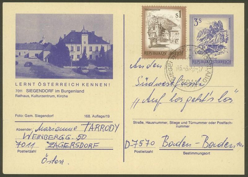 """Ganzsachen mit Wertstempel """"Schönes Österreich"""" - Seite 2 P_460_26"""