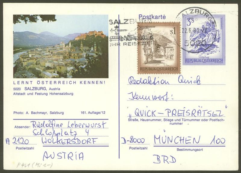 """Ganzsachen mit Wertstempel """"Schönes Österreich"""" - Seite 2 P_461_14"""