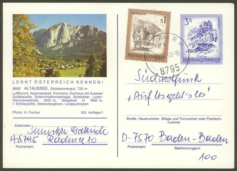 """Ganzsachen mit Wertstempel """"Schönes Österreich"""" - Seite 2 P_461_16"""