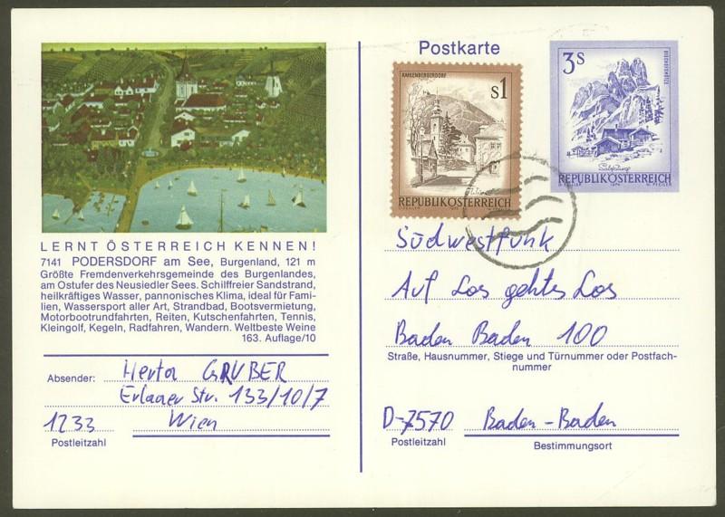 """Ganzsachen mit Wertstempel """"Schönes Österreich"""" - Seite 2 P_461_20"""