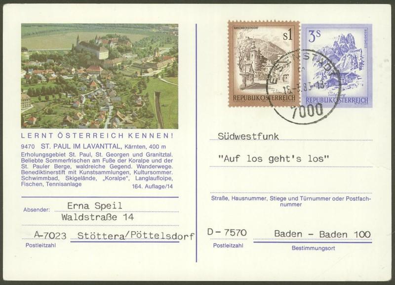 """Ganzsachen mit Wertstempel """"Schönes Österreich"""" - Seite 2 P_461_26"""