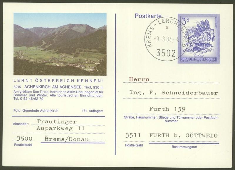 """Ganzsachen mit Wertstempel """"Schönes Österreich"""" - Seite 2 P_461_54"""