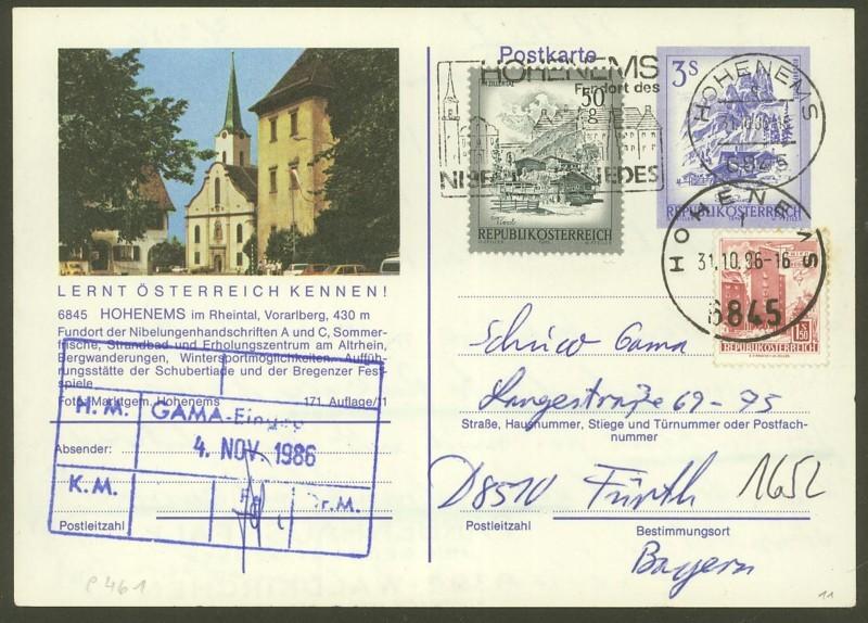 """Ganzsachen mit Wertstempel """"Schönes Österreich"""" - Seite 2 P_461_56"""