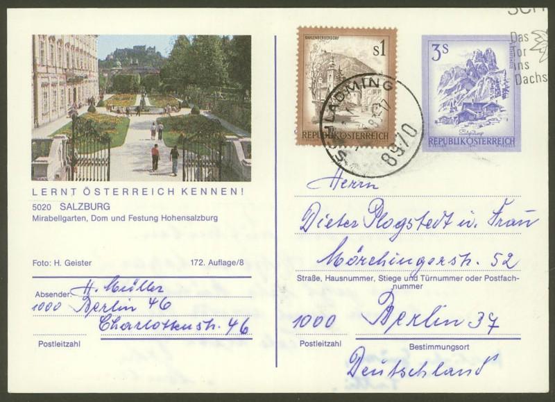"""Ganzsachen mit Wertstempel """"Schönes Österreich"""" - Seite 2 P_461_62"""