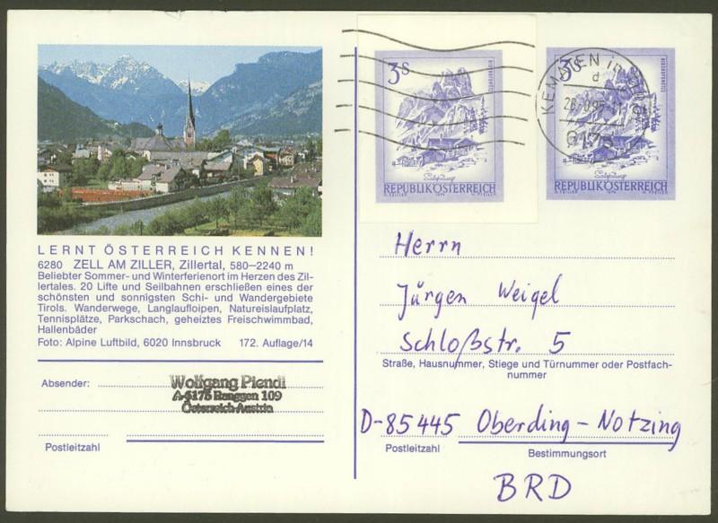 """Ganzsachen mit Wertstempel """"Schönes Österreich"""" - Seite 2 P_461_64"""
