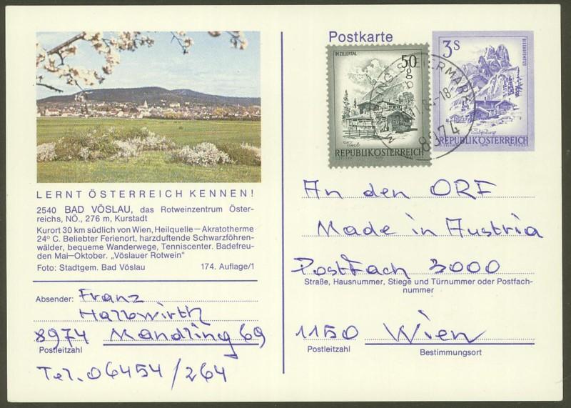 """Ganzsachen mit Wertstempel """"Schönes Österreich"""" - Seite 2 P_461_66"""