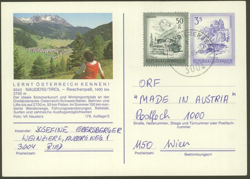 """Ganzsachen mit Wertstempel """"Schönes Österreich"""" - Seite 2 P_461_72"""