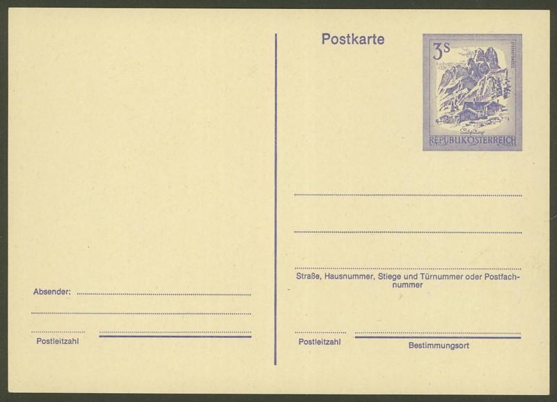"""schönes - Ganzsachen mit Wertstempel """"Schönes Österreich"""" P_463_10"""