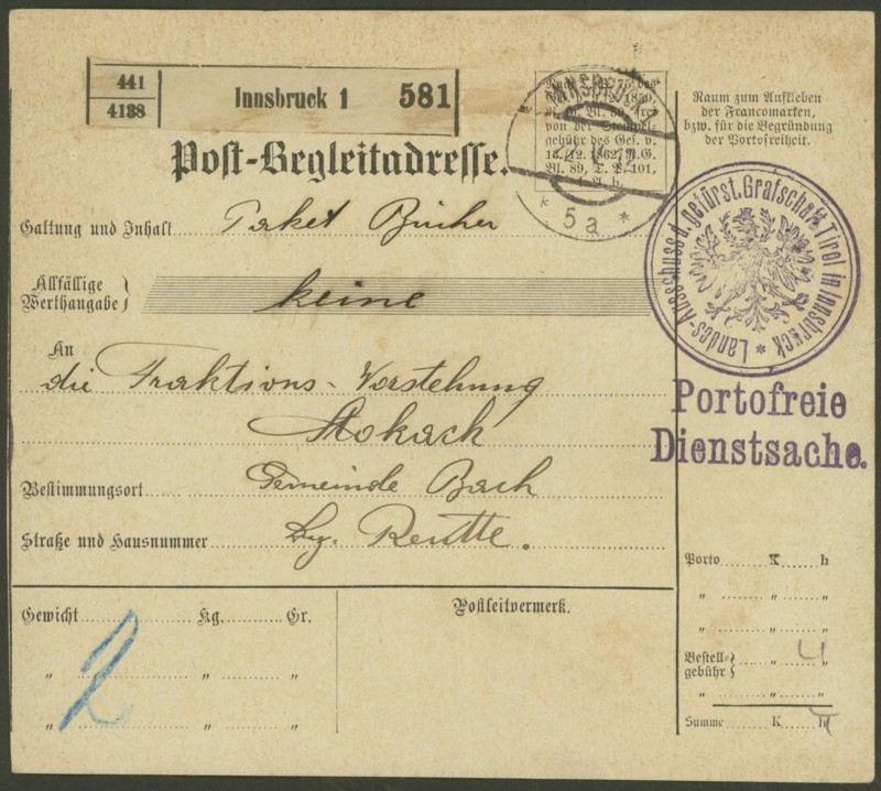Buchprojekt HILFE - Stempel aus Innsbruck auf Belegen gesucht - Seite 2 Pbegla12