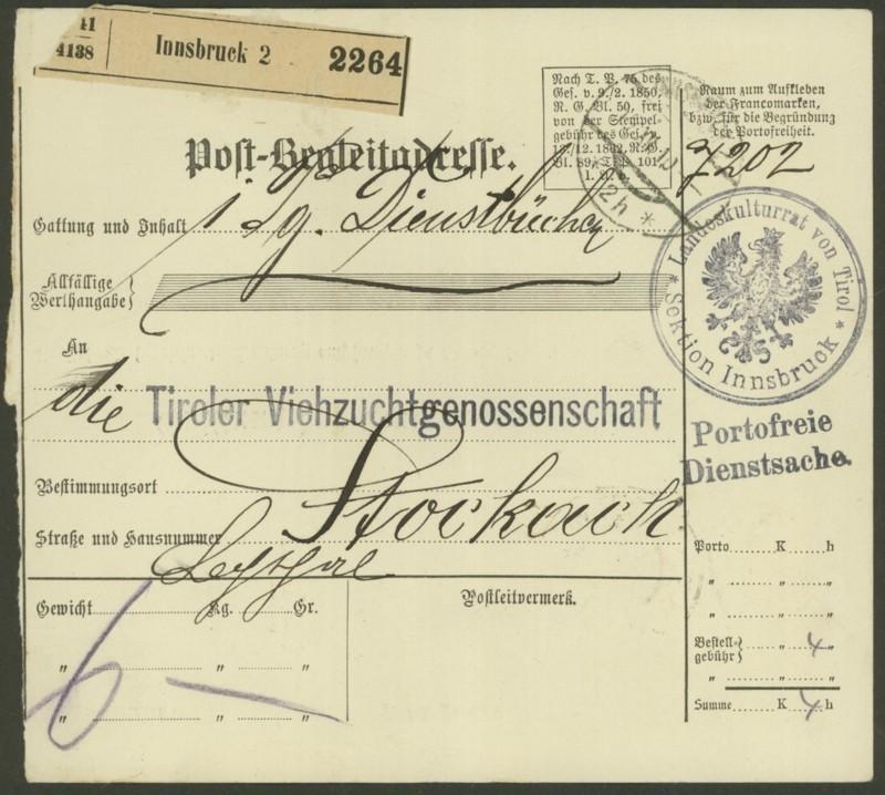Buchprojekt HILFE - Stempel aus Innsbruck auf Belegen gesucht - Seite 2 Pbegla17