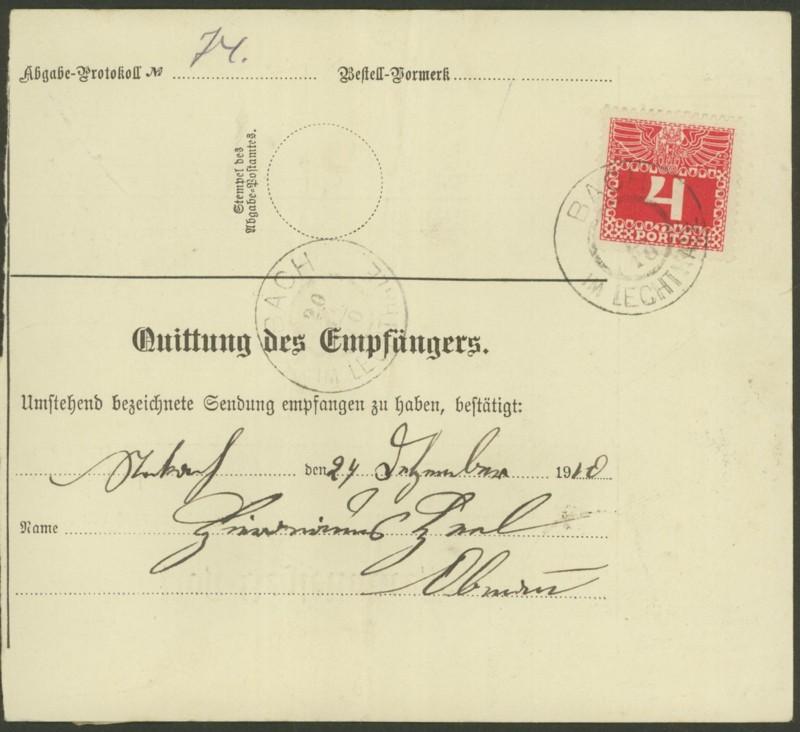 Buchprojekt HILFE - Stempel aus Innsbruck auf Belegen gesucht - Seite 2 Pbegla19