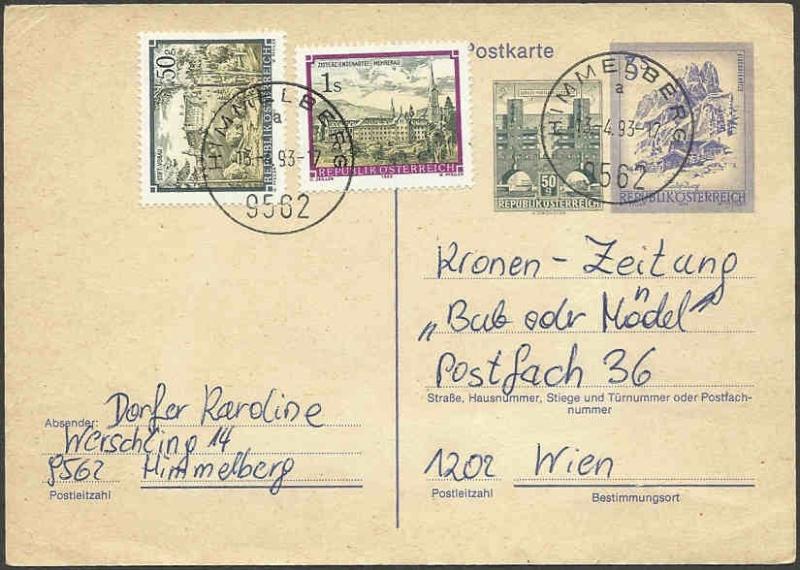"""schönes - Ganzsachen mit Wertstempel """"Schönes Österreich"""" Pk_feb10"""