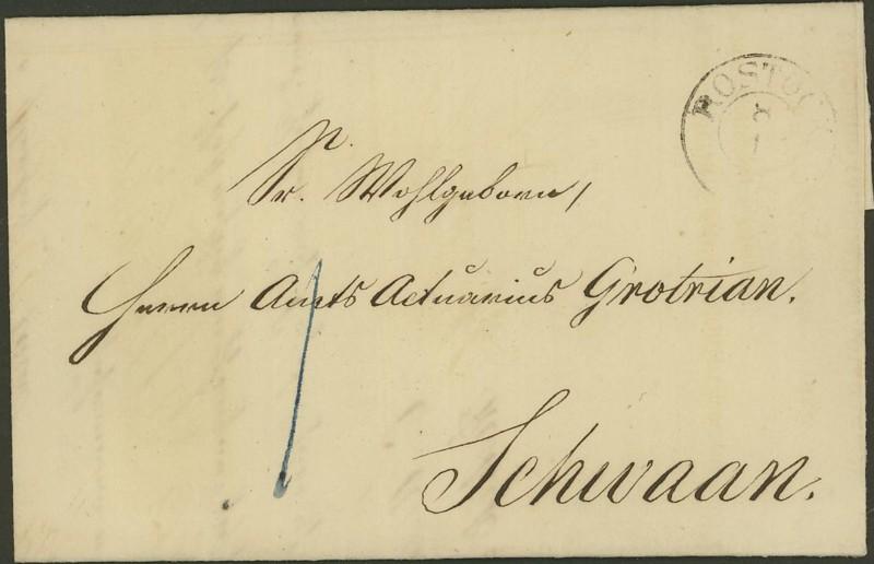 Markenlose Briefe vor 1920 (ohne Feldpost) Rostoc10