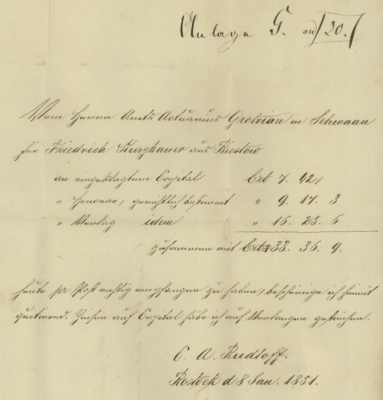 Markenlose Briefe vor 1920 (ohne Feldpost) Rostoc12
