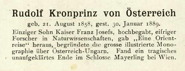 Sammlung Persönlichkeiten des 19. Jahrhunderts Rudolf11
