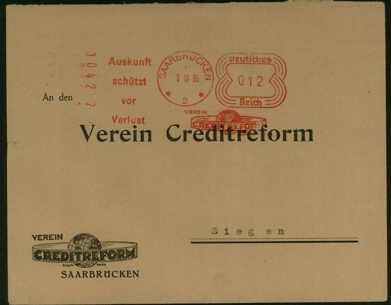 1945 - Freistempel / Absenderfreistempel Deutsches Reich (bis 1945) Saarbr10
