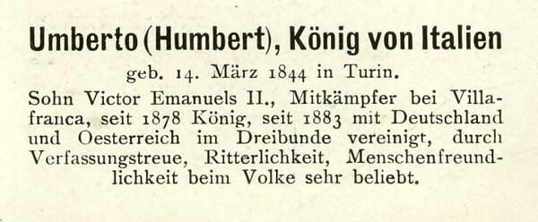 Sammlung Persönlichkeiten des 19. Jahrhunderts Umbert11