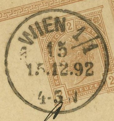 Wiener Stempel im 19.Jahrhundert Wien_112