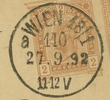 Wiener Stempel im 19.Jahrhundert Wien_115