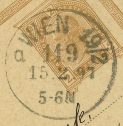 Wiener Stempel im 19.Jahrhundert Wien_117