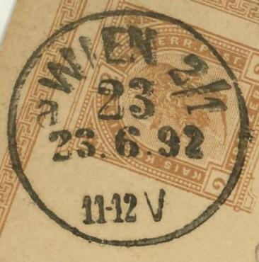 Wiener Stempel im 19.Jahrhundert Wien_210