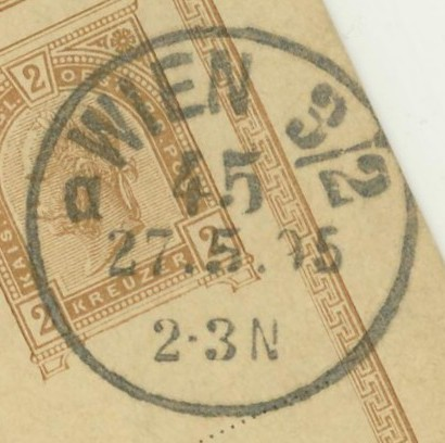 Wiener Stempel im 19.Jahrhundert Wien_410