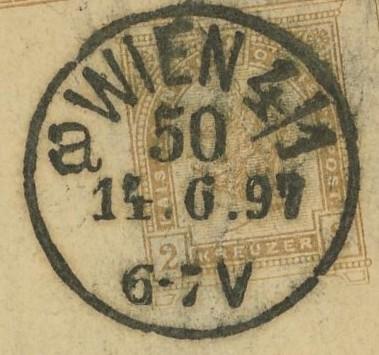 Wiener Stempel im 19.Jahrhundert Wien_510