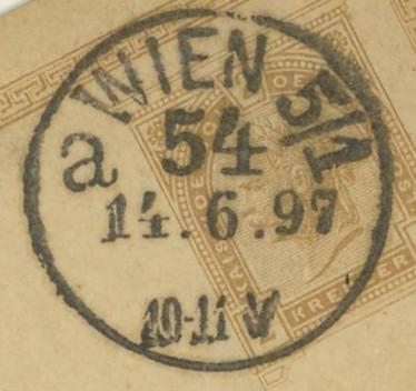 Wiener Stempel im 19.Jahrhundert Wien_511