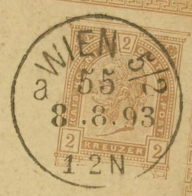 Wiener Stempel im 19.Jahrhundert Wien_512