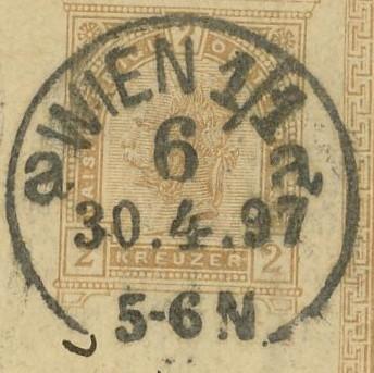 Wiener Stempel im 19.Jahrhundert Wien_611