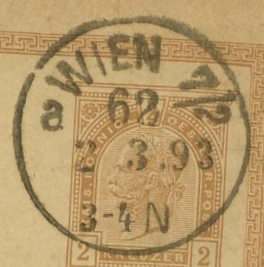 Wiener Stempel im 19.Jahrhundert Wien_612
