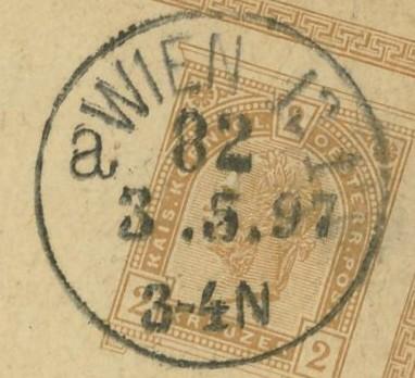 Wiener Stempel im 19.Jahrhundert Wien_810