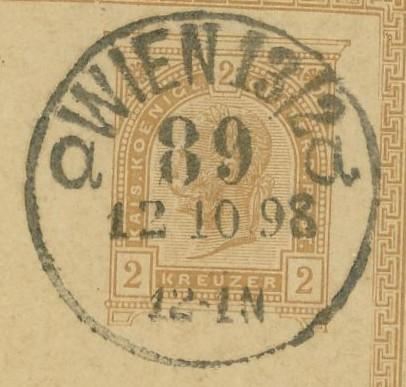 Wiener Stempel im 19.Jahrhundert Wien_811