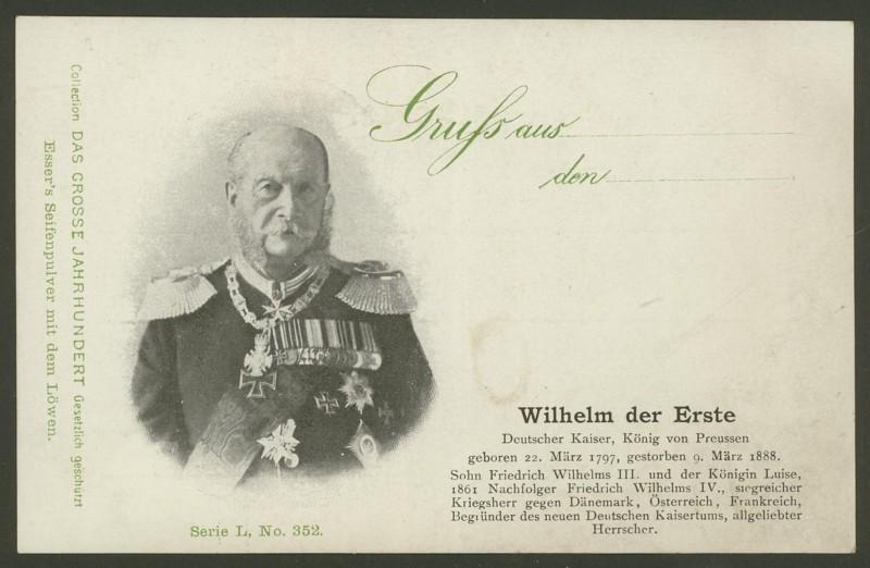 Sammlung Persönlichkeiten des 19. Jahrhunderts Wilhel10