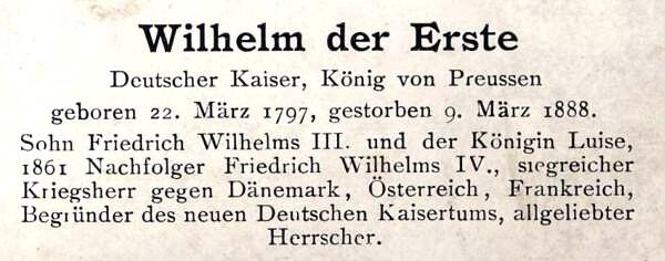 Sammlung Persönlichkeiten des 19. Jahrhunderts Wilhel11