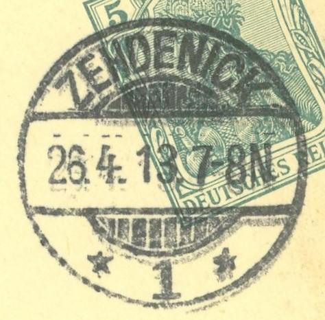 Deutsche Postorte Q - Z Zehden10