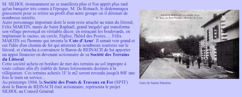 """Historique du Train du Littoral Toulon-St Raphaël""- Yves LHERMITTE Train310"