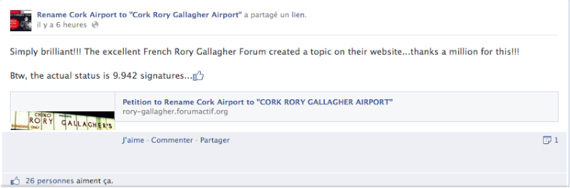 "Petition to Rename Cork Airport to ""CORK RORY GALLAGHER AIRPORT""  Image_31"