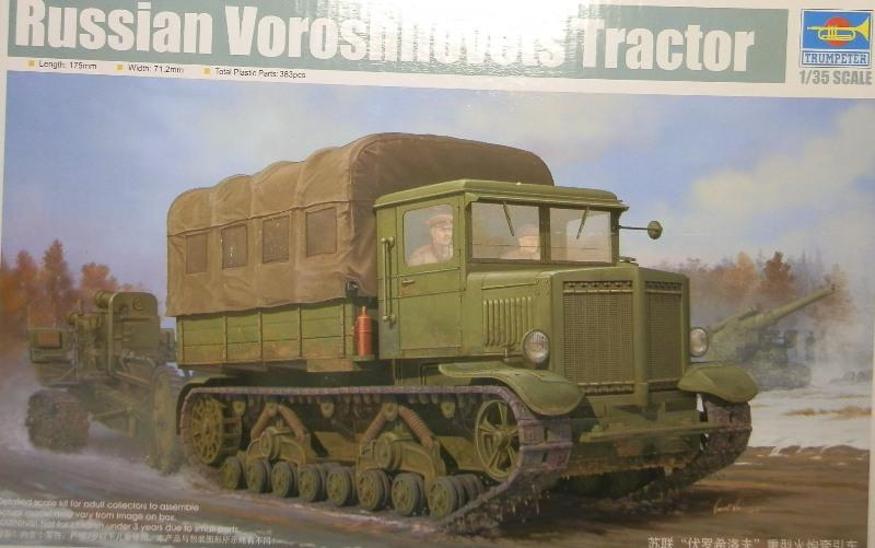 Tracteur d'artillerie Voroshilovets et canon sK.18 10,5cm [1/35 Trumpeter] P2083311