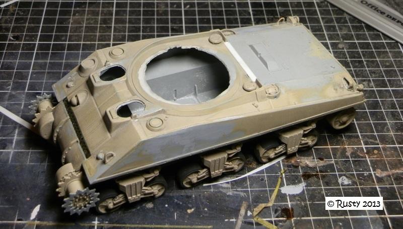 "M4A4 SHERMAN ""Flambeau - Le Grognard"" 1er RCA [Dragon 1/35] Pa283310"