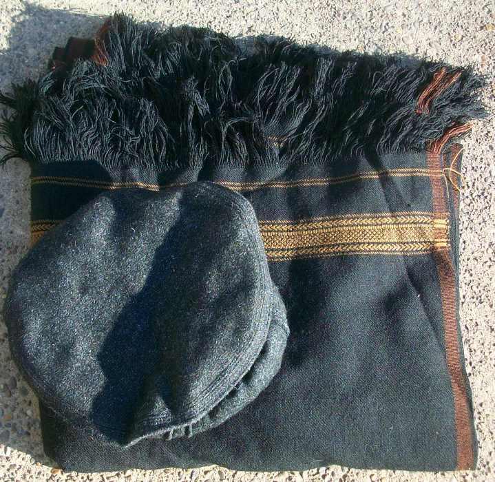 Afghan Pakol and Blanket 00322