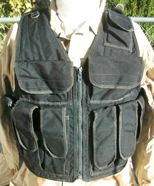 Afghan Black Police Vest 01312