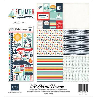 """Papier Echo Park  Summer Adventure Collection Kit 12""""X12"""" Echopa10"""