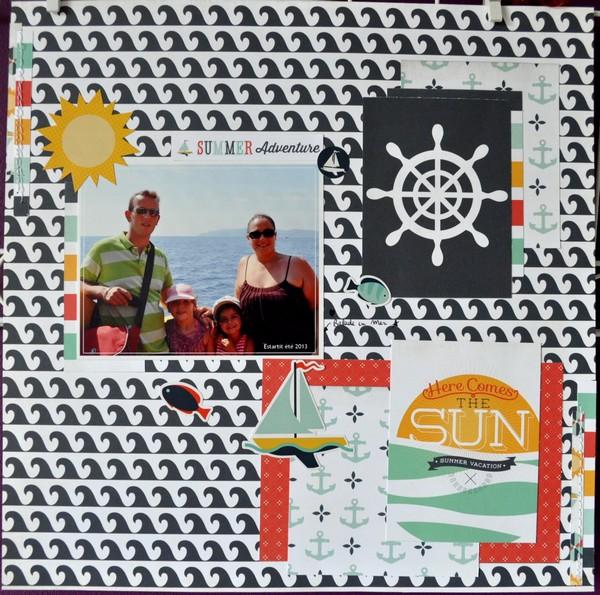 """Papier Echo Park  Summer Adventure Collection Kit 12""""X12"""" Lift_j10"""