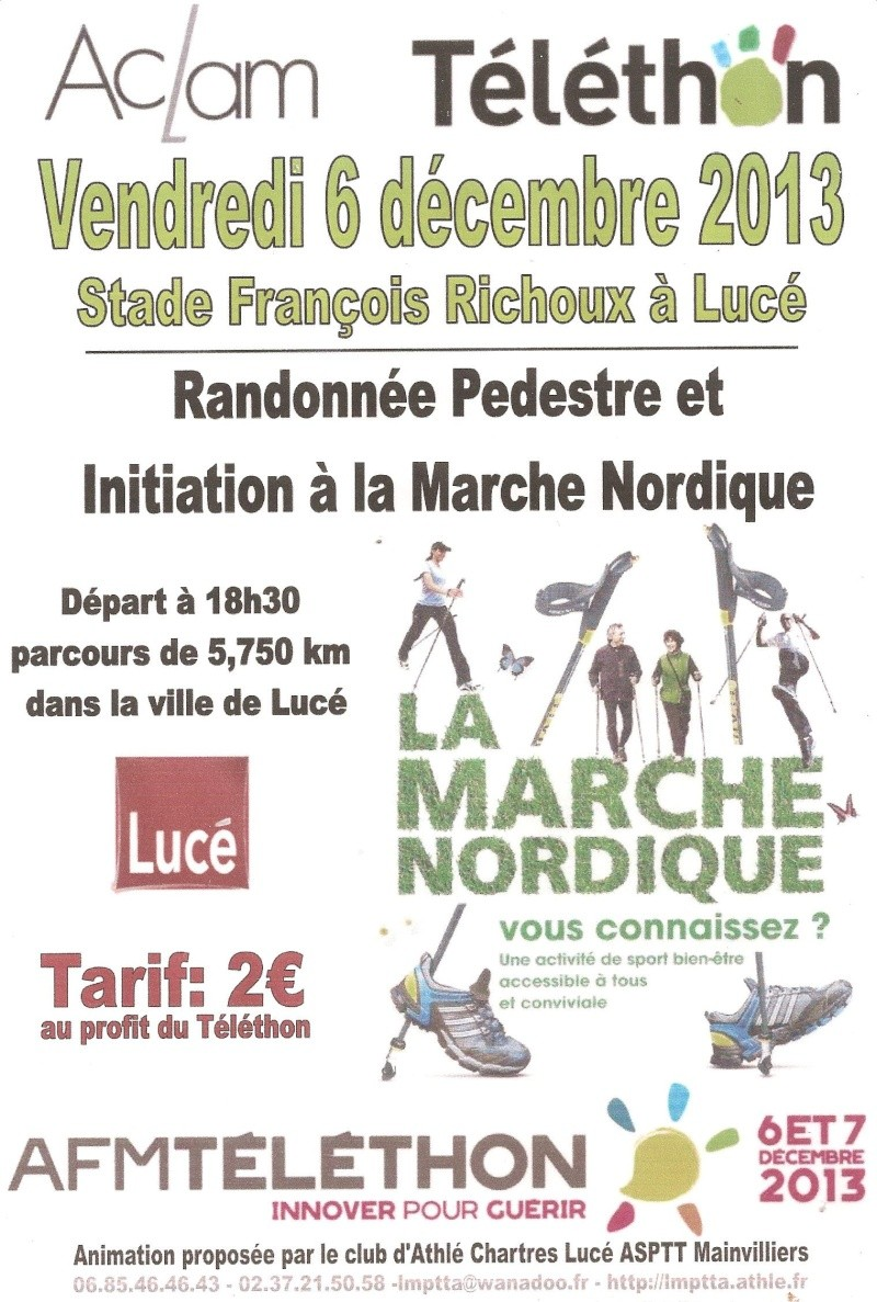 luce 6/12 telethon rando/marche  NORDIQUE  PAR L ACLAM Teleth10